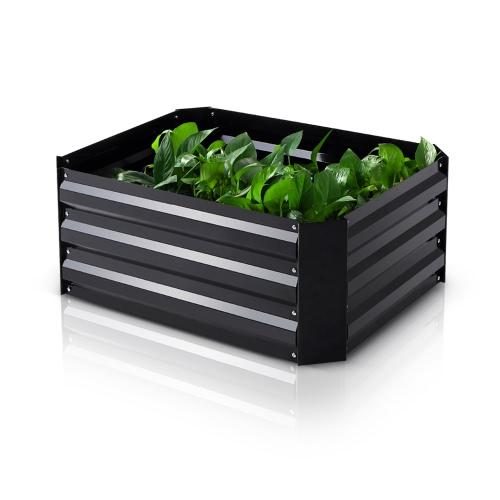 IKayaa Rectangle Metal Rised Garden Bed Растительный набор для травы цветка 75 * 56,5 * 30 см (L * W * H)