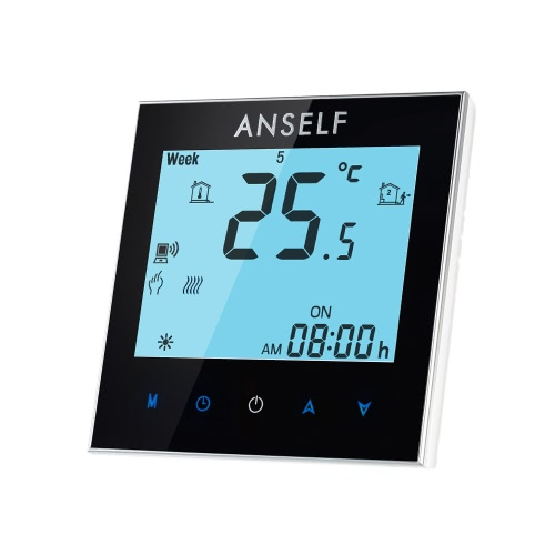 Anself 3A 110~240V Water Heating Energy Saving WIFI Smart Thermostat with Touchscreen LCD Display Durable Programmable Temperature Controller Good Quality Home Improvement Product