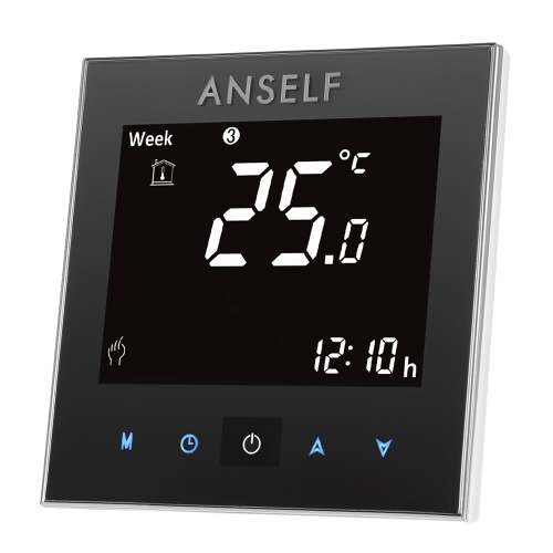 Anself 3A 110 ~ 240V Wasser-Heizungs-Thermostat mit Touch-Screen-LCD-Anzeige 7-Tage programmierbar Raumtemperaturregler Home Improvement Produkt