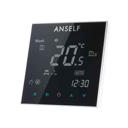 Anself 110~240V Air Conditioner Thermostat with LCD Display Good Quality Touch Screen Programmable Room Temperature Controller Home Improvement Product