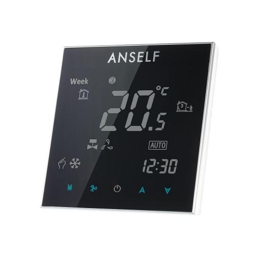Anself 110 ~ 240V del acondicionador de aire de 2 tubos Termostato con pantalla LCD de la buena calidad de la pantalla táctil Temperatura Programable Controlador de Sala Mejoras Producto