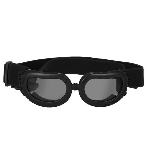 New Pet Goggles Kleiner Hund Sonnenbrille Anti-Fog Anti-Wind Glas-Augen-Schutz-wasserdichter Ski Sun UV-Schutz Schutzbrille mit verstellbaren Trägern für Hunde oder Katzen