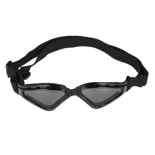 Nouveau mode Pliable Pet lunettes Grand Dog Eye Protecteur Lunettes de soleil étanche Anti-brouillard Anti-vent Lunettes de ski Lunettes de sécurité Protection UV soleil avec amovibles lavables sangles pour chiens