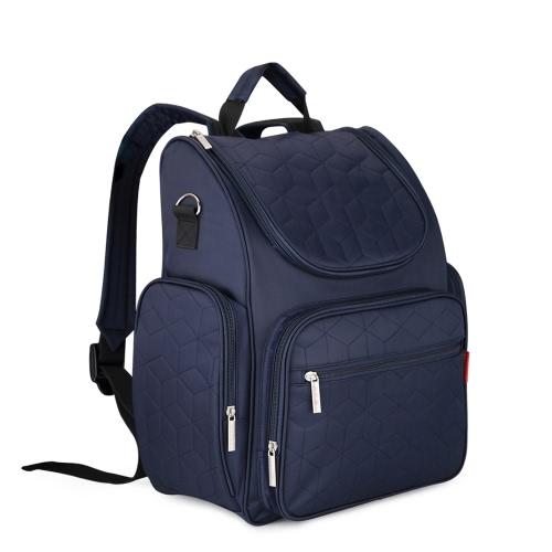 Insular Large Capacity Multifunktions-Mommy-Taschen Windel-Tasche Baby-Windel-Rucksack-Organizer mit Kinderwagen-Riemen Wickeltasche Wet Bag für Mama