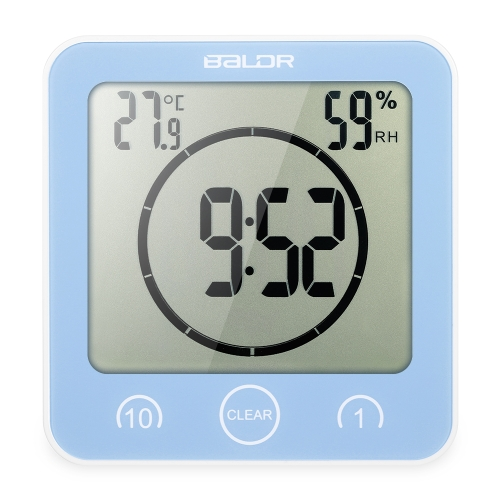 Multifunctional Digital Clock with Large Screen Display Time Temperature Humidity Excellent LCD Shower Clock with Timer