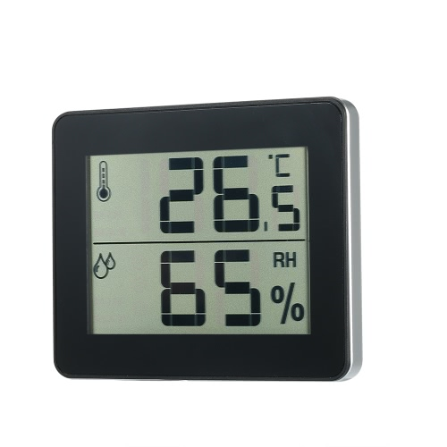 LCD Digital Indoor Thermometer Hygrometer Temperature Humidity Measurement °C/°F Max Min Value Display