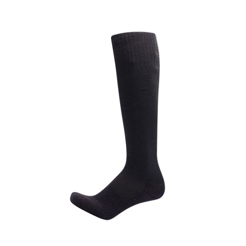 2 Pairs Men's Breathable Wicking Knee High Soccer Socks Sport Football Athletic Compression Socks for US 7.5-10.5 / UK 6.5-9.5 / EU 40-46 Black