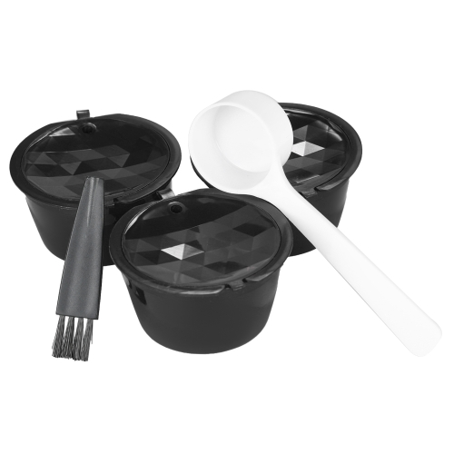 3pcs / set Coffee Capsule Dolce Gusto Coffee Filter Wielokrotnego użytku Dolce Gusto Coffee Capsule with Spoon and Brush