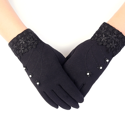 Women Touch Screen Phone Gloves Winter Autumn Warm Wear Biking Riding Outdoor Activities Windproof Stay Cozy While Texting