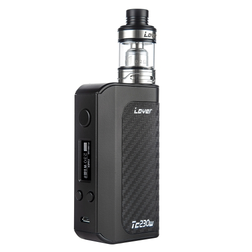 Kangvape Lovei TC230W E-cigarette Vape مرذاذ طقم TC 230W صندوق mod مع 0.2ohm Atomizer ك TFV8 دبابة V8 T6 لفائف أسود
