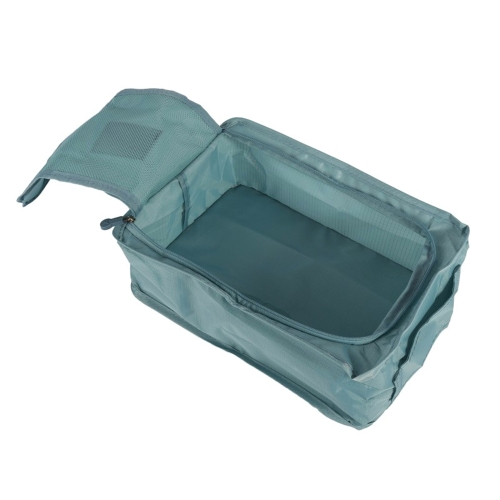 Convenience Travel Storage Bag Multi-functional Waterproof Nylon Shoes Organizer Bags Shoe Sorting Pouch Handbag Portable Classification Bags (Gray)