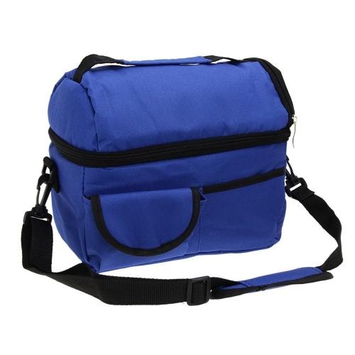 Большая емкость изолированная квадратная сумка для курения Cooler Tote Carry Bags Travel Bento Box с регулируемым плечевым ремнем (красный)