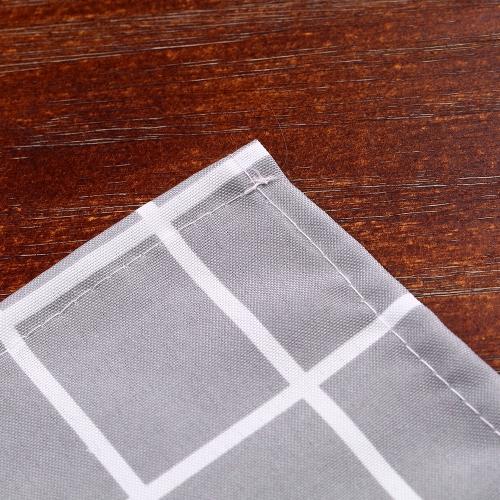 Htovila 72 * 72 '' Polyester-dekorativer Privatleben-Schutz-Badezimmer-Vorhang 100% wasserdichter formbeständiger bakterieller Duschvorhang mit 12pcs Haken