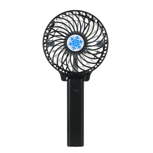 Portable USB 18650 Batterie Ventilateur Rechargeable Ventilation Pliable Ventilateurs de Climatisation Pliable Refroidisseur Mini Opéré Main Ventilateur de Refroidissement pour Maison Extérieure (Noir)