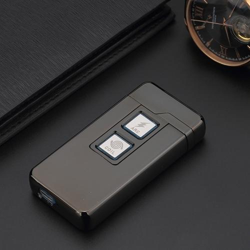 USB Akumulator elektroniczny Hit Fire Windproof Dwufunkcyjny bezpłomieniowy metalowy papieros Zapalniczki