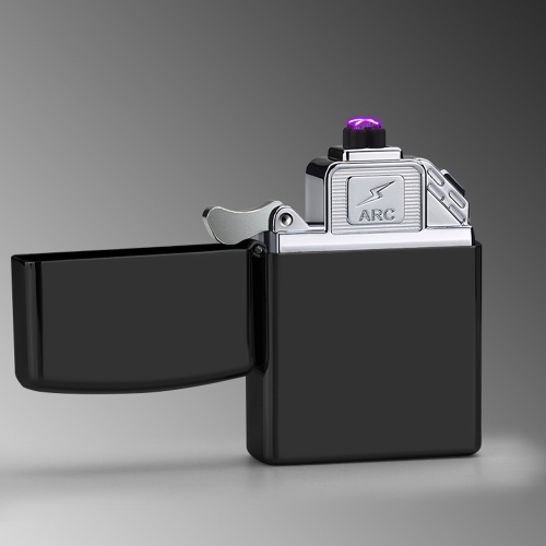 Mode Pure Couleur USB Rechargeable Électronique Hit Machine à Feu Coupe-Vent Flameless Métal Fumer Cigarette Briquets de Double Arc Pulsé