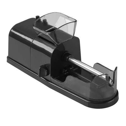 Elektrische Automatische Zigarette Drehmaschine DIY AUTO Tabakinjektor Maker Roller Acessorios Leere Rauchrohr Füllmaschine (Schwarz)
