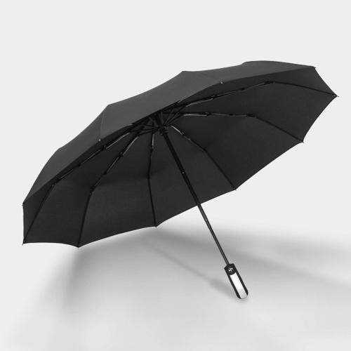 10-Rib Автоматический Tri-fold Umbrella Деловые люди и женщины Складной зонт