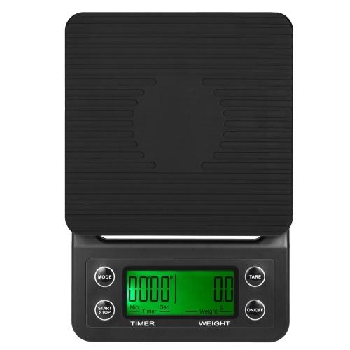 5kg / 0.5g Skala kawy Drip Scale Dokładna elektryczna waga kuchenna