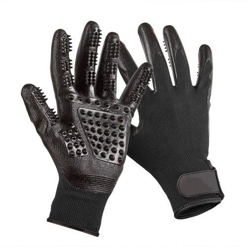 2шт Силиконовые перчатки Массаж Расческа для чистки волос Инструменты для высыпания Купание щетки для домашних животных Кошки Собаки