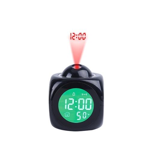 Voz do despertador multifuncional com tela LCD digital