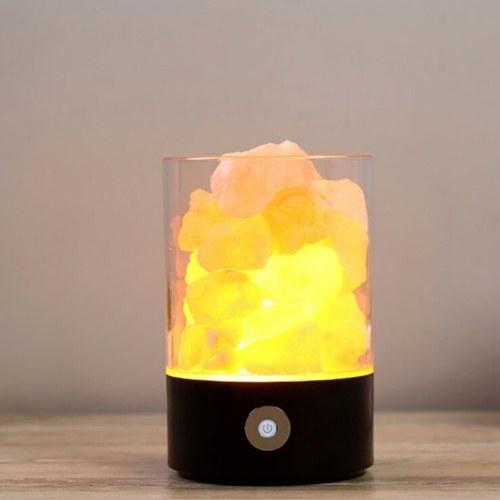 USB Crystal Light Natural Himalayan Salt LED Air Purifier