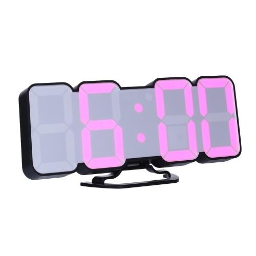 Sveglia LED RGB digitale a distanza 3D wireless