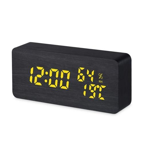 Reloj despertador de madera