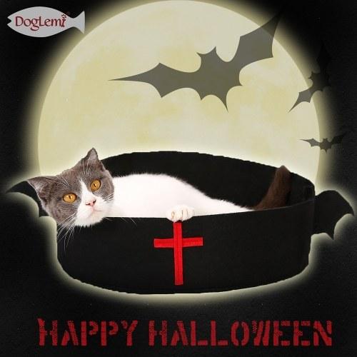 Cojín para mascotas Cama del gato Cesta para mascotas Nido para mascotas Cojín suave para dormir Fundas innovadoras de Halloween para gatos y perros pequeños