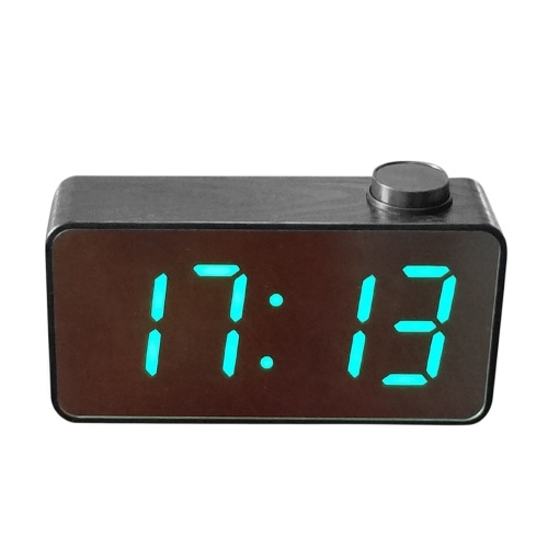 Digital Mirror Alarm Clock 3 Times Displays Luminance