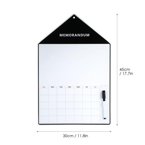 Магнит на холодильник Календарь для сухого стирания с маркером Еженедельно Многоразовая доска для кухни Холодильник Детский планировщик для спальни Учебный кабинет 17.7 * 11.8in фото