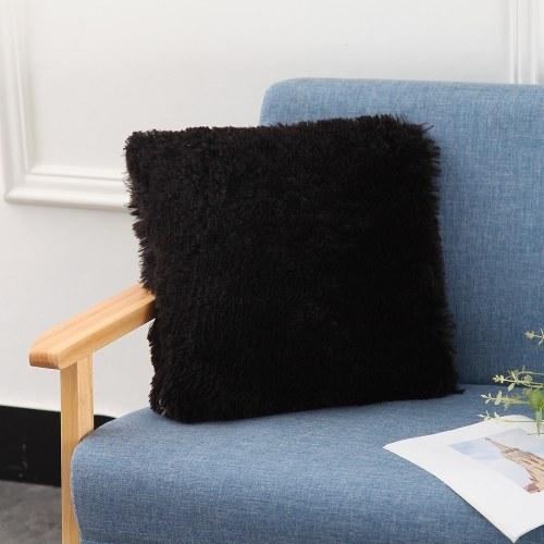 Fluffy Plush Pillow Cover Square