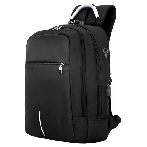 16-Zoll-Anti-Diebstahl-Business Travel Laptop-Fach-Rucksack mit USB-Ladeanschluss und Kopfhörerloch