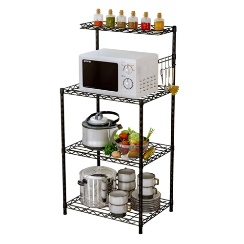 Versatile 4 Tier Bakers Rack Microwave Stand Kitchen Oven Adjustable Rack