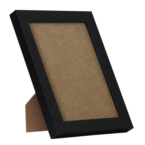 Marco de fotos de madera de 8 pulgadas Marco de fotos de madera ecológica natural con acrílico de alta definición para colgar en la pared y mostrar fotos en la mesa