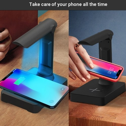 UV Phone Cleaner Wireless Charger Detachable Travel Wand Wireless Charging Stand