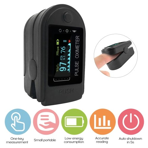 Fingertip Pulse Oximeter Clip TFT LCD Display Fingertip Oximeter