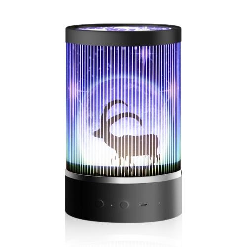 Luz de proyector USB con control remoto 7 modos de iluminación