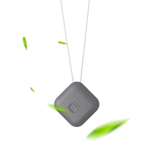 Purificador de aire portátil con correa para el cuello Generador de iones negativos Eliminador de humo Limpiador de aire silencioso portátil