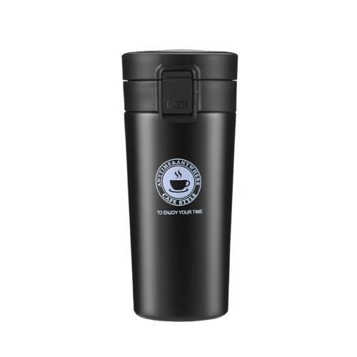 Taza de café de viaje aislada de acero inoxidable de 380 ml