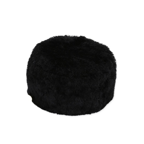 Faux Fur Inflatable Chair Sofa Stool Pluffy Foot Rest Footstool