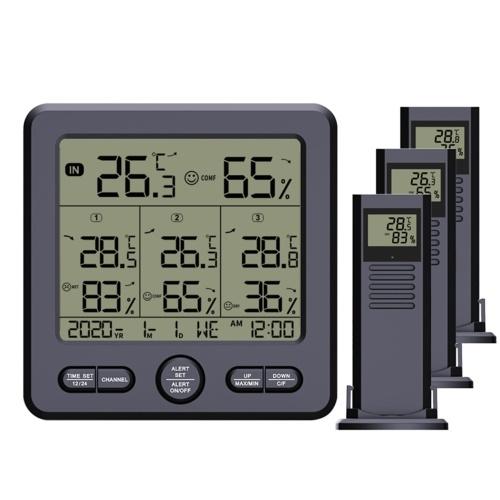 Termohigrómetro digital inalámbrico para interiores y exteriores