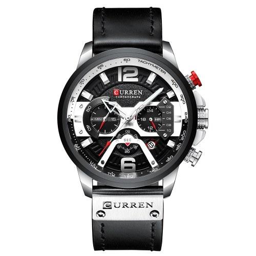 CURREN 8329 Orologio al quarzo da uomo d'affari semplice orologio da polso sportivo