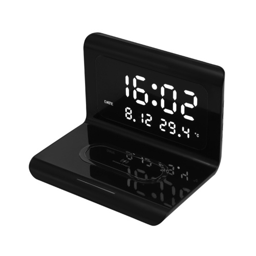 10W Wireless Charger Pad and Alarm Clock