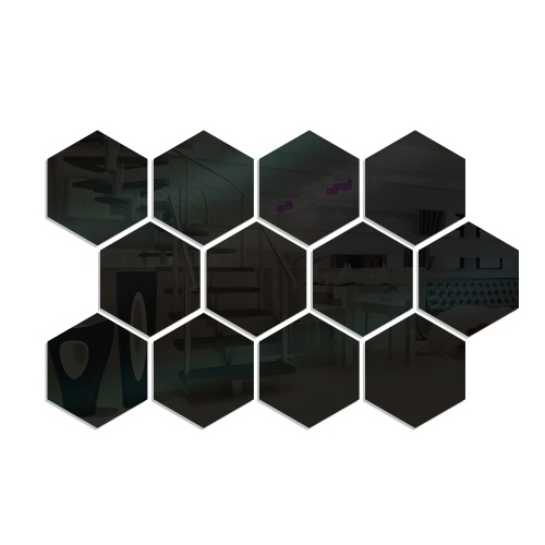 12 piezas de calcomanías de pared de espejo