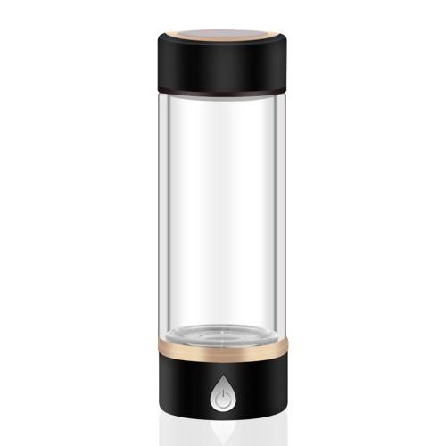 Garrafa de gerador de água rica em hidrogênio portátil de 420ml Copo de vidro para garrafa de água de hidrogênio recarregável