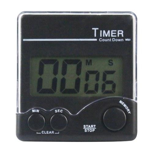 Цифровой кухонный таймер с сильным магнитом, задняя подставка, громкий будильник