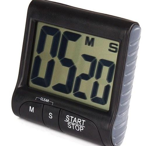 Цифровой кухонный таймер с сильным магнитом, задняя подставка, подвесное отверстие, громкий будильник