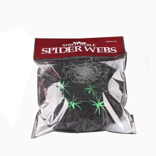 Stretchable Spider Web Stretchy Cobweb Decoration Spooky Fake-Spiders Decoration Vivid Decor Supplies Party Props Indoor Outdoor Home Decor for Festival Party Haunted House Bar Friend Trick