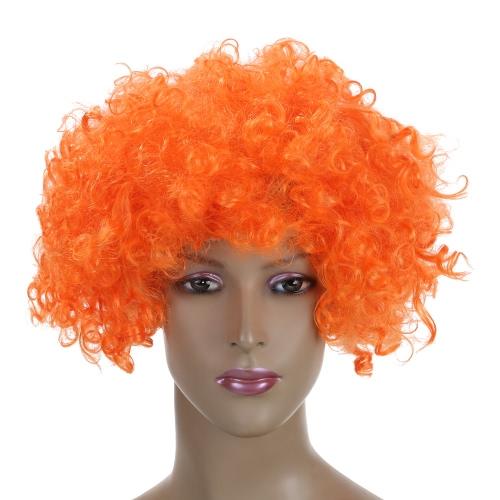 Los aficionados Festnight adulto colorido del payaso del Afro de la peluca rizada de Halloween mascarada del pelo de Cosplay de la peluca de Fútbol